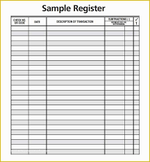 Check Register Printable Free Printable Check Register Templates Of 5 Best Of Free