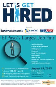 news job fair in el paso new workforce job seekers mark your calendars set your alarms get your resumeacutes ready and put together your most professional outfit see flyer below