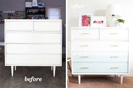 painted mid century furnitureMid Century Modern Tallboy Dresser Chalk Paint Makeover  Sarah Hearts
