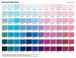 Pantone Color Selection Chart Page 11 Color Selection Char