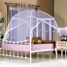 Meigar Foldable Baby Adult Double Zipper Door Sleeping Yurt Mosquito Net Bed Canopy with Stand,King 180X200x155cm color