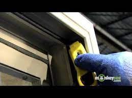 a sliding glass door