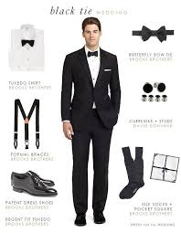 Black Tie Theme What To Wear To A Formal Black Tie Wedding Black Tie