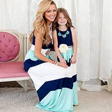 summer Mommy and me <b>family matching mother daughter</b> dresses ...