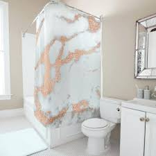 marble stone abstract white gray rose copper gold shower curtain and bathrooms c black white and gold shower curtain