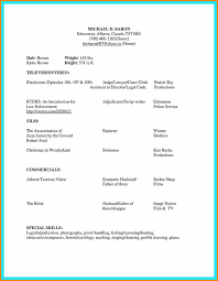 how to build an acting resumes acting resume template doc kor2m net