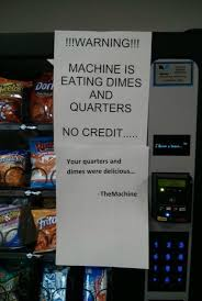 Vending Machine Signs Extraordinary Notes On Vending Machines Dump A Day