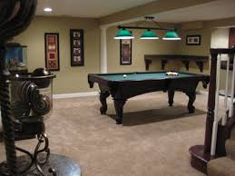game room lighting ideas. Game Room Of Rustic Finished Basement Ideas With Pool Table And Lighting Also Interior Paint Carpet Flooring