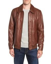 Men's Brown Bomber Jackets by Andrew Marc | Lookastic