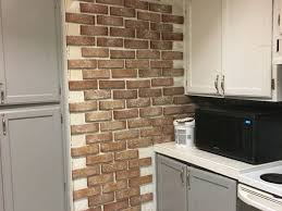 a brick accent wall for your kitchen