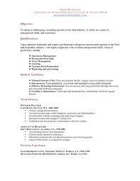 Hospitality Resume Skills Resume For Your Job Application