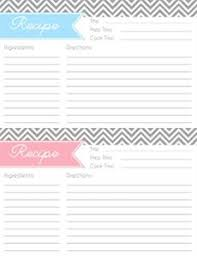Full Page Recipe Template Free Free Printable Full Page Recipe Templates Archives Business Card