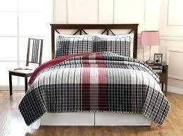 red plaid crib bedding