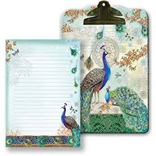 Punch Studio Magazine Holder Amazon Punch Studio Royal Peacock Clip Board Note Pad 88