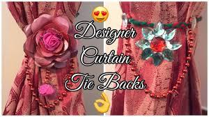 Designer Curtain Tie Backs Designer Curtain Tie Backs Easy Tutorial Artsyminds