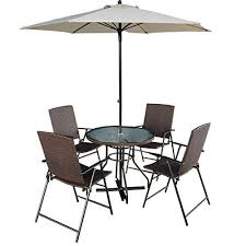tangkula 6 pcs patio dining set