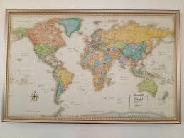 map world framed complete framed map decorative world map framed wall art world maps