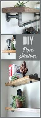 Creative diy pipe shelves design ideas Desk Shelves And Do It Yourself Shelving Ideas Industrial Pipe Wood Bookshelves Easy Step By Shelf Projects Rajkaraninfo Iron Pipe Shelves Creator Living Sample Creative