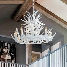 more images of modern antler chandelier