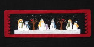 Snowman Table Runner Wool Applique PATTERN from cabincreek on Etsy ... & Snowman Table Runner Wool Applique PATTERN Adamdwight.com