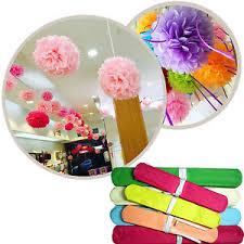 Diy Flower Balls Tissue Paper Details About 6 8 Tissue Paper Artificial Flower Ball Pom Birthday Decor Diy Wedding Party