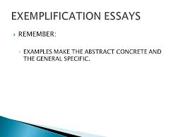 exemplification essay examples exemplification paragraph the exemplification essay ppt
