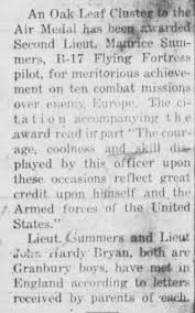 Maurice Summers service news May 1944 - Newspapers.com
