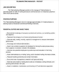 Amazing Telemarketing Resume Job Description Gallery - Simple .