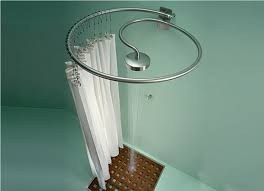 image of shower curtain rods for shower stalls
