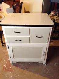 Vintage Enamel Top Cabinet Wood Furniture by KarensChicNShabby ...