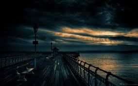 landscapes nature dark port – Art Black ...