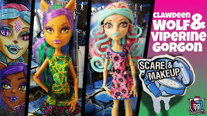 viperine clawdeen in scare makeup monster high