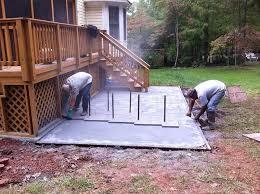 stamped concrete patio cost happy diy
