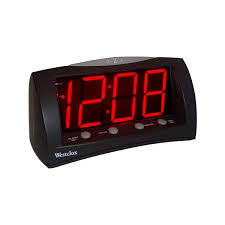 westclox westclox clocks 1 8 oversized snooze led alarm clock 11street malaysia wall clock