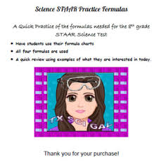 8th Grade Science Formula Chart Science Formula Practice For 8th Grade Staar