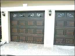 how to paint wood grain on metal garage door look like ling faux wo paint