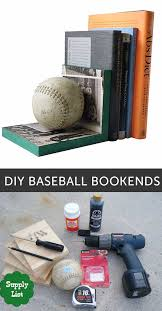 diy room decor for boys diy baseball bookends best creative bedroom ideas for boy