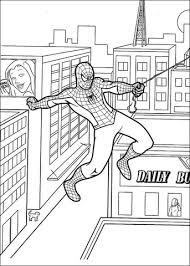 Disegno Di Spider Man Con Le Sue Ragnatele Da Colorare Disegni Da