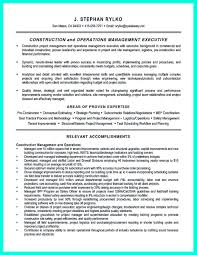Project Management Resume Examples Lovely Simple Construction