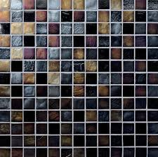 moroccan desert black silver gold ocean glass tile