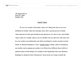 essay family values madrat co essay family values