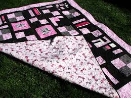 291 best Quilts, Blankets, & Fabric Awareness Ribbon DYI Projects ... & x Breast Cancer Awareness Quilt with Bras on Back. Adamdwight.com