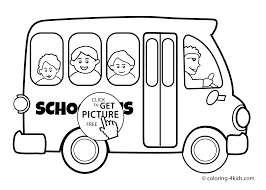 Small Picture School bus Transportation coloring pages for kids printable