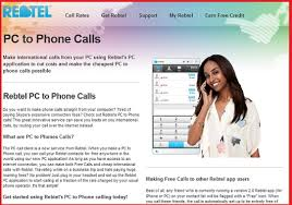 Rebtel Computer Calls Make Phone Calls From Laptop Free Pc To