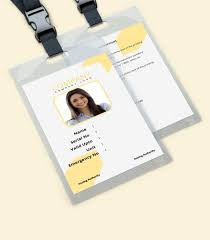Company Id Card Template 30 Id Card Examples Templates Design Ideas Psd Ai