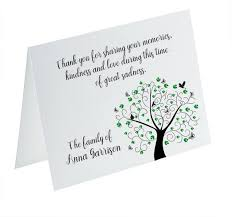 Personalized Sympathy Thank You Cards Funeral Thank You Cards Sympathy Acknowledgement Cards Etsy