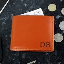 personalised initials tan leather wallet tap to expand