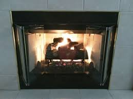 hearth and home new fireplace bi fold glass doors w black trim