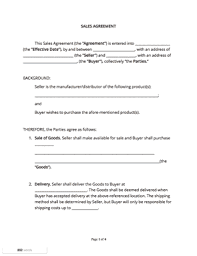 Sales Contract Template Free Sample Docsketch