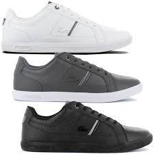 details about lacoste europa 417 1 spm leather men s sneakers shoes leather sneakers leisure